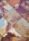 Telhas coloridas da ardósia foto de stock royalty free