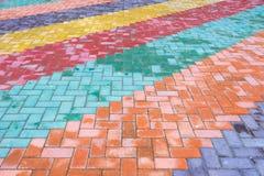 Telhas coloridas da estrada Foto de Stock