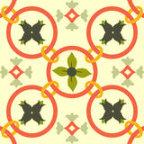Telhas coloridas sem emenda do ornamento Imagem de Stock