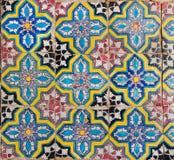Telhas com geometria de testes padrões coloridos Fotografia de Stock Royalty Free