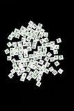 Telhas da letra do jogo de palavras fotografia de stock royalty free