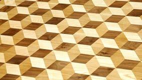 telhas da madeira 3d Fotografia de Stock