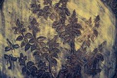 Telhas das texturas bonitas do close up e ouro abstrato e fundo colorido e arte da parede de vidro ilustração do vetor