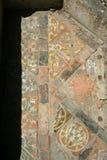Telhas de assoalho medievais Fotografia de Stock