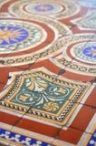 Telhas de assoalho ornamentado Fotografia de Stock