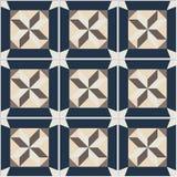 Telhas de assoalho - teste padrão sem emenda do vintage com telhas do cimento Foto de Stock Royalty Free