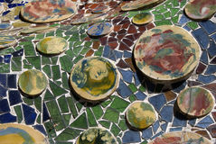Telhas de Gaudi foto de stock