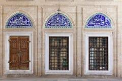 Telhas de Iznik na mesquita de Selimiye Imagem de Stock