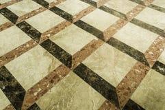 Telhas de mármore quadradas Imagens de Stock Royalty Free