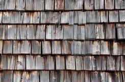 Telhas de madeira Foto de Stock Royalty Free