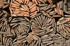 Telhas de madeira Imagens de Stock Royalty Free