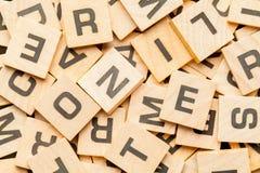 Telhas de madeira da letra Fotos de Stock