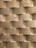 Telhas de madeira da parede Fotos de Stock