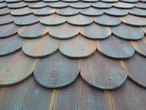 Telhas de madeira do telhado Foto de Stock Royalty Free