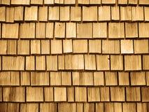 Telhas de madeira do telhado Fotos de Stock Royalty Free