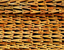 Telhas de madeira empilhadas em se Imagem de Stock Royalty Free