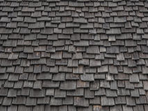 Telhas de madeira gastas Fotografia de Stock Royalty Free