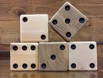 Telhas de madeira de Mah Jong Fotografia de Stock Royalty Free