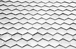 Telhas de madeira preto e branco Imagens de Stock