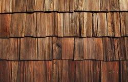 Telhas de madeira sujas Imagens de Stock Royalty Free