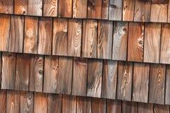 Telhas de madeira tradicionais do telhado Foto de Stock Royalty Free