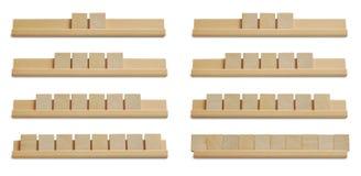 Telhas de madeira vazias Fotografia de Stock