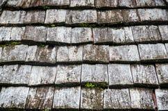 Telhas de madeira velhas Fotografia de Stock Royalty Free