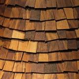 Telhas de madeira Imagens de Stock