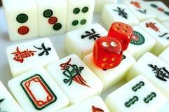 Telhas de Mahjong Fotografia de Stock Royalty Free