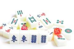 Telhas de Mahjong Foto de Stock
