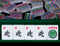 Telhas de Mahjong Fotos de Stock Royalty Free