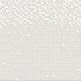 Telhas de mosaico abstratas brancas - fundo quadrado Fotos de Stock Royalty Free