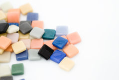 Telhas de mosaico coloridos fotografia de stock royalty free