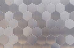 Telhas de mosaico do metal em um interior moderno fotografia de stock