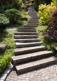 Telhas de pedra da escadaria Fotos de Stock Royalty Free