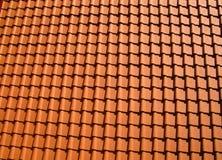 Telhas de telhado alaranjadas Fotografia de Stock Royalty Free