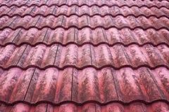 Telhas de telhado búlgaras vermelhas velhas Foto de Stock