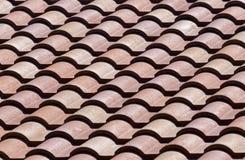 Telhas de telhado cerâmicas - teste padrão/fundo Fotografia de Stock