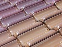 Telhas de telhado coloridas Imagem de Stock Royalty Free