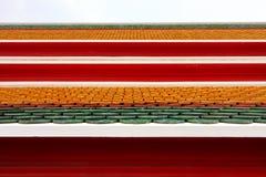 Telhas de telhado coloridas Foto de Stock Royalty Free