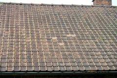 Telhas de telhado da terracota imagens de stock