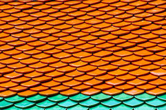Telhas de telhado de Wat Phra Kaew imagens de stock