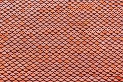 Telhas de telhado em Wat Intharawihan Temple, Banguecoque, Tailândia imagens de stock royalty free