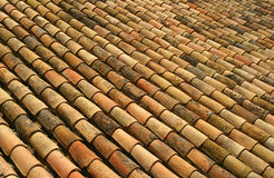 Telhas de telhado espanholas Fotos de Stock Royalty Free