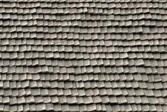 Telhas de telhado feitas da madeira Fotografia de Stock Royalty Free