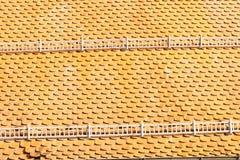 Telhas de telhado na laranja Fotos de Stock Royalty Free