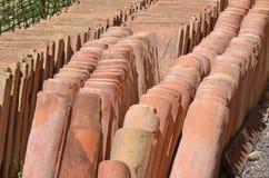 Telhas de telhado romanas Imagens de Stock