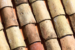 Telhas de telhado velhas da argila de Dubrovnik Fotografia de Stock Royalty Free