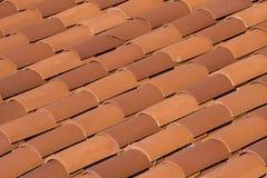 Telhas de telhado vermelhas imagens de stock