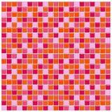 Telhas de vidro alaranjadas, cor-de-rosa e vermelhas Ilustração do Vetor